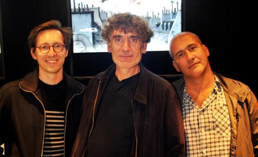 Les réalisateurs Frank Ekinci et Christian Desmares et le producteur Marc Jousset (Avril et le monde truqué)
